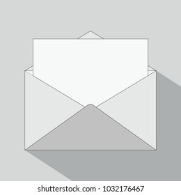 Envelope Icon in trendy style isolated on gray background.