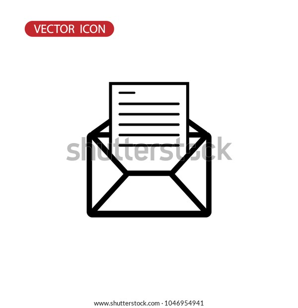 Wondrous Envelope Icon Vector Mail Vector Icon Stock Vector Royalty Pdpeps Interior Chair Design Pdpepsorg