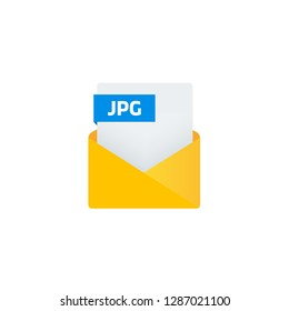 Envelope with JPG file attachment