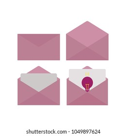 envelope and light bulb icon 2