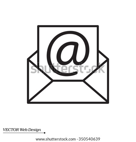 Envelope Mail Icon Email Message Sign Stock Vector Royalty Free