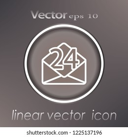 The envelope. Mail. Support and maintenance around the clock or around the clock. Vector.