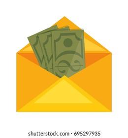 envelope with money icon