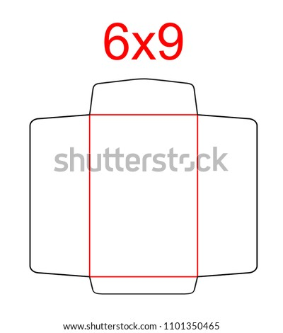 Envelope Open End Catalog Envelope 6 X 9 Stock Vector Royalty Free
