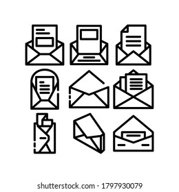 envelope open icon or logo isolated sign symbol vector illustration - Collection of high quality black style vector icons