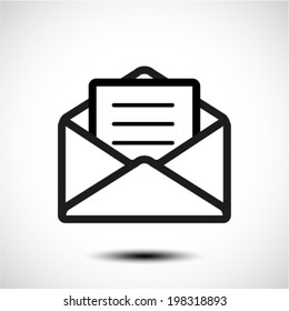 envelope and paper icon