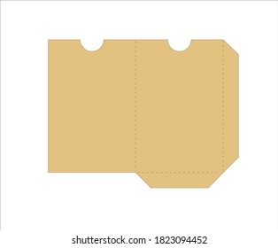 Envelope for plastic hotel card template vector file lasercut papercut