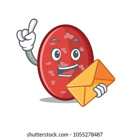 With envelope salami character cartoon style