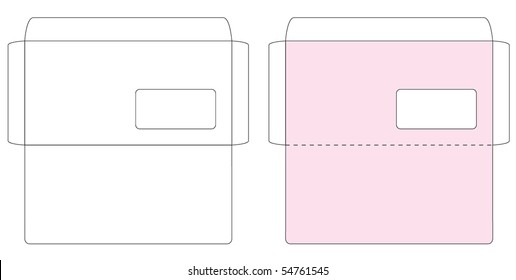 Blank envelope template images stock photos vectors shutterstock envelope template accmission Choice Image