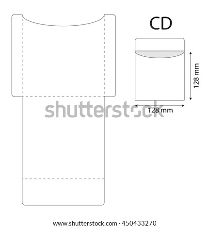 Envelope template cd stock vector royalty free 450433270 envelope template cd maxwellsz