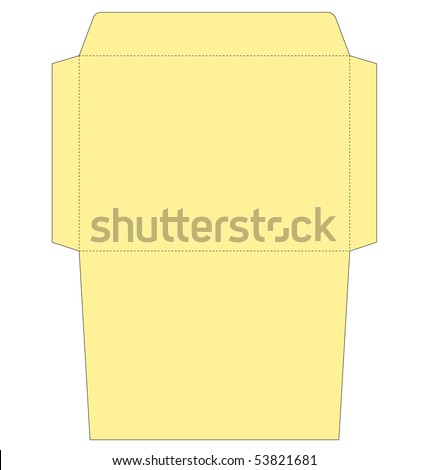 envelope template ready be put design stock vector royalty free
