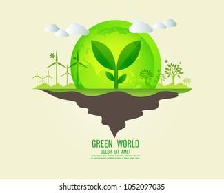 environment eco infographic