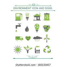 Environment and eco related symbols