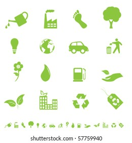 Environment and eco signs and symbols