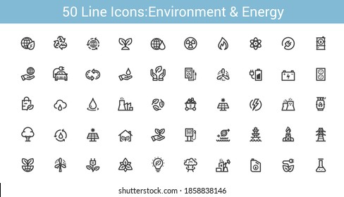Environment and Energy Line icon