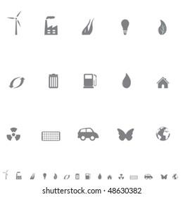 Environment friendly symbols icon set