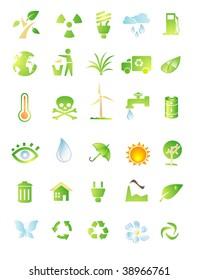 environment icon set isolated on white background