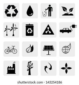 Environment icons Vector.