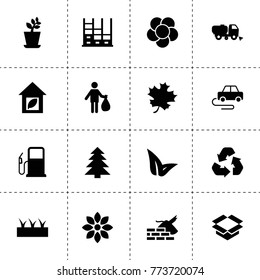 Environment icons. vector collection filled environment icons. includes symbols such as plant, sprouting, flower, spruce, leaf. use for web, mobile and ui design.