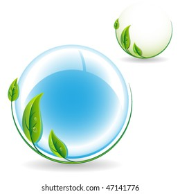 Environment protection icon. Vector illustration