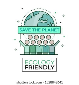 Environmental activism icon - Ecology friendly - Editable stroke