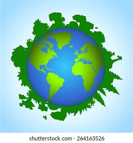 Environmental concept of earth