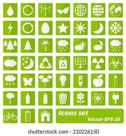 Environmental and eco icons. Vector eps10