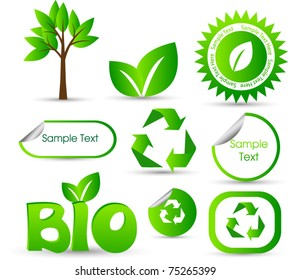 environmental elements stickers or icons