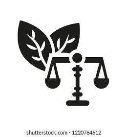 environmental law icon. Trendy environmental law logo concept on white background from law and justice collection. Suitable for use on web apps, mobile apps and print media.