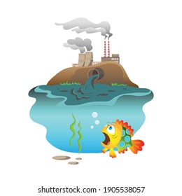Environmental pollution. Waste production. Discharge of waste into the ocean.