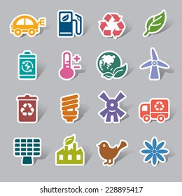 Environmental Protection Color Icon Label