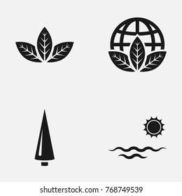 Environmental protection flat vector icons. World environment day illustration.