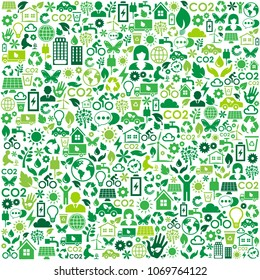 Environmental protection and nature interface icon green concept