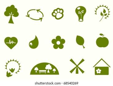 environmental simple icon set