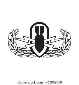 EOD Badge vector black outline