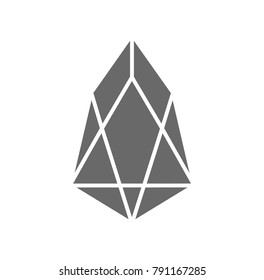Eos (EOS) logo icon. Cryptocurrency / Altcoin.
