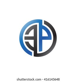 EP initial letters linked circle logo blue black