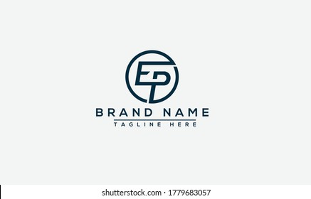 EP Logo Design Template Vector Graphic Branding Element.