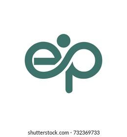 EP logo initial letter design template vector