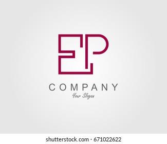 EP Logo. Letter design vector