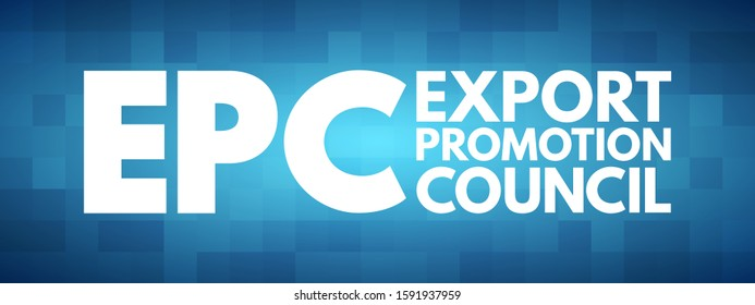 EPC - Export Promotion Council acronym, business concept background