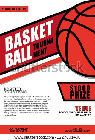 epic basketball tournament flyer stock vector royalty free