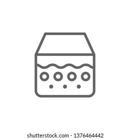 Epidermis, skin icon. Element of skin care icon. Thin line icon for website design and development, app development. Premium icon