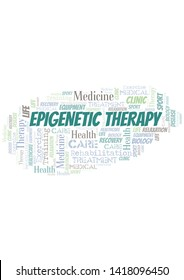 Epigenetic Therapy word cloud. Wordcloud made with text only.
