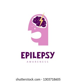 Epilepsy awareness handwritten lettering quote for postcards, banners, t-shirts. Vector illustration EPS 10.