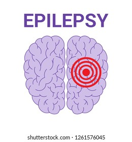 Epilepsy vector icon isolated on a white background.