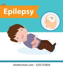 epilepsy vector illustration