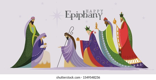 Epiphany is a Christian festival, Jesus Christ soon after he was born 2, poster card banner