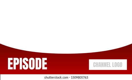 episode title video cover thumbnails vector