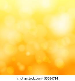 EPS 10 Orange bokeh abstract light background - Vector illustration